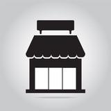 Fototapety Shop building