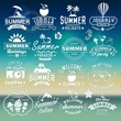 Summer labels, logos, icons and elements.