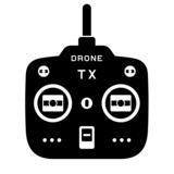 vector rc drone quadcopter tx transmitter black icon poster