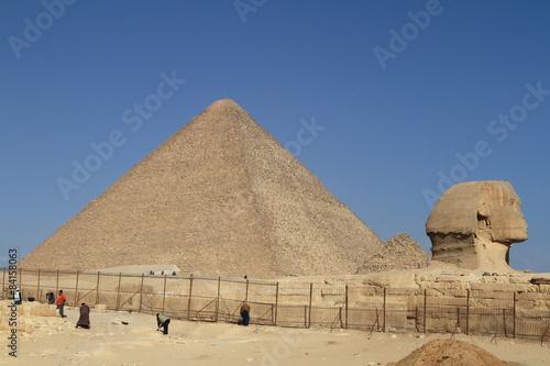 Poster Egypte Die Pyramiden und Sphinx von Gizeh in Ägypten