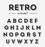 Fototapety Graphic Retro Letters set