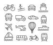 Detaily fotografie Transport icons
