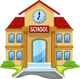 Fototapety School building cartoon