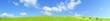 Obrazy na płótnie, fototapety, zdjęcia, fotoobrazy drukowane : Collina verde all'aperto con nuvole nel cielo blu chiaro