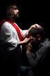 Obrazy na płótnie, fototapety, zdjęcia, fotoobrazy drukowane : praying with Jesus