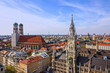 Munich panoramic view old town architecture, Bavaria, Germany.