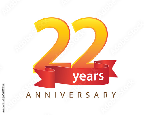 22 years anniversary logo buy photos ap images detailview