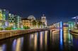 Berliner Regierungsviertel bei Nacht