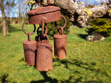Beautiful garden bell wind chimes poster