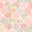 seamless patchwork pattern with flowers and butterflies