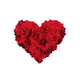 Heart shape made of red crumpled papers - 84247018