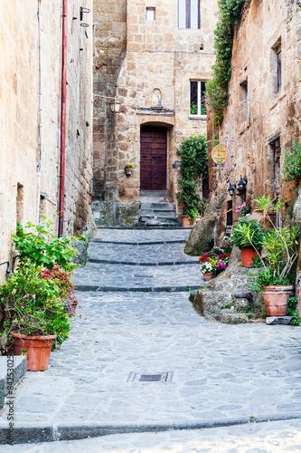 Obraz The streets of the old Italian city of Bagnoregio, Lazio