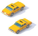 Fototapety Vector isometric taxi cab