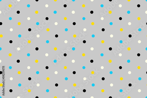 Geometric seamless pattern background grungy polka dots - 84259678
