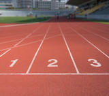 Fototapety Running track number