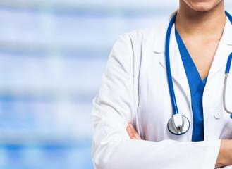 Nurse on a blue background