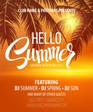 Fototapety Hello Summer Beach Party Flyer. Vector Design