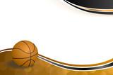 Fototapety Background abstract orange black sport basketball ball