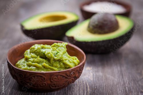 Plagát, Obraz Guacamole with avocado