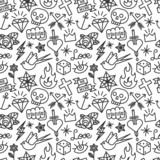 Tattoo seamless pattern
