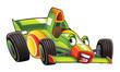 Cartoon sports car racing - illustration