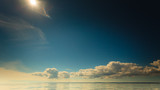 Naklejka Beautiful seascape evening sea horizon and sky.