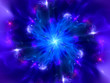 Magical blue explosion in space