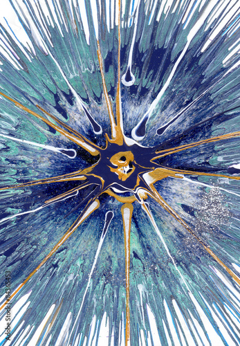 Fototapeta Abstract expressionism painting - Cassiopeia
