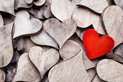 Rustikales Herz.