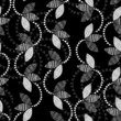 Monochrome floral pattern. Abstract seamless background.