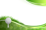 Fototapety Background abstract green golf sport white ball illustration