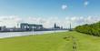 Kölner Skyline mit Pollerwiesen
