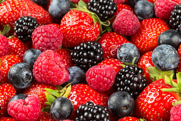 mixed berry fruits