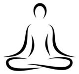 Fototapety Abstract Yoga Lotus Position