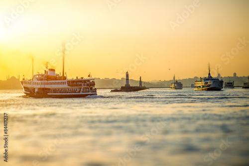 Poster Bosphorus strait in Istanbul