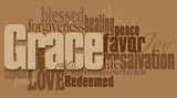Grace word graphic montage - 84413841