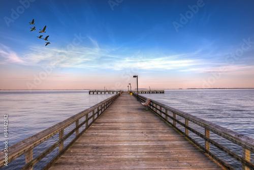 obraz PCV Pier w zatoce Chesapeake