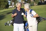 Fototapety Senior Couple Enjoying Game Of Golf