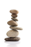 Balanced stack of different river stones - 84453065