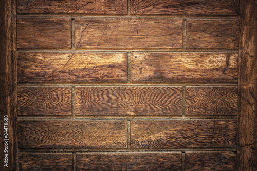 Poster Brown Wooden Wall