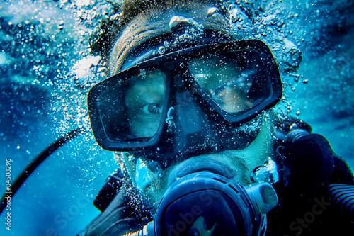 obraz lub plakat Nurek selfy