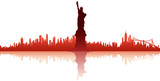Fototapety new york city silhouette