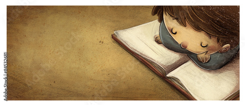 niño leyendo un libro - 84532681