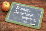 Necessity - the mother of invention poster