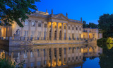 Fototapety Royal Lazienki Park in Warsaw - Palace on the Water by night