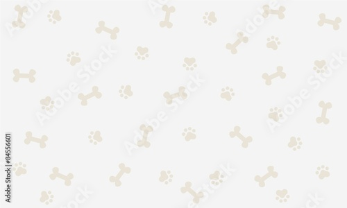 obraz PCV Seamless background with bone and footprint dog, background, wallpaper, graphic design, illustration