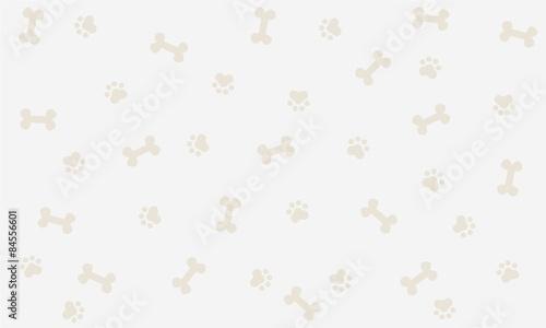 obraz lub plakat Seamless background with bone and footprint dog, background, wallpaper, graphic design, illustration