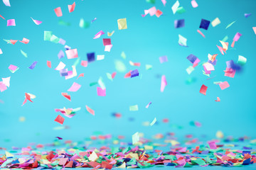 Colored confetti
