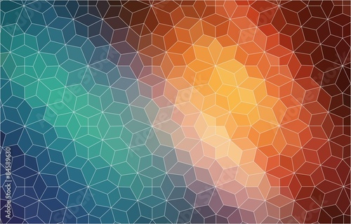 Fotobehang Geometrische Achtergrond Abstract 2D mosaic colorful background