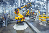 robots in a car plant - Fine Art prints